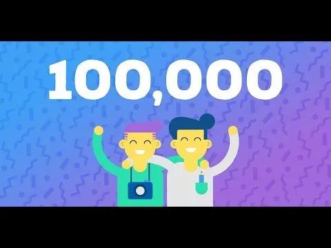 У нас уже 100 000 подписчиков